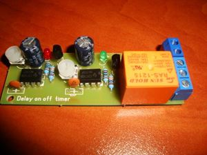 Picture of DELAY ON AND OFF TIMER SWITCH TIME RELAY ON 0 to 50 s OFF 0 to 45 s 10A 12V KIT