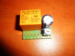 Picture of MINI TIMER SWITCH TIME RELAY 0 TO 10 SEC KIT 12V / 12A Delay ON CAR DAYLIGHTS